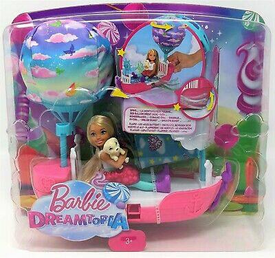 Barbie Dreamtopia Magical Dreamboat Chelsea Doll Pup Balloon Playset Toy