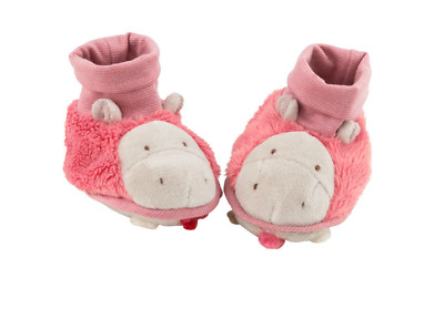 Moulin Roty Les Zazous Soft Pink Baby Slippers 0 - 6 months from Wyestyles