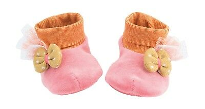 Moulin Roty Les Tartempois Pink Soft Baby Slippers 0 - 6 months from Wyestyles