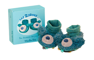 Moulin Roty Les Zazous Soft Koala Baby Slippers 0 - 6 months from Wyestyles
