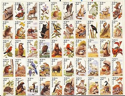 1987 NORTH AMERICAN WILDLIFE #2286-2335 Full MINT Sheet of 50 Postage Stamps