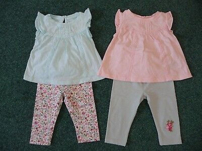 Beautiful Baby Outfits 3-6 Months Gap Mothercare Tops Leggings Summer bundle New