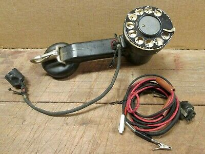 1960s BELL SYSTEM - TELEPHONE REPAIRMAN ROTARY TEST PHONE- Flexible Rubber Body