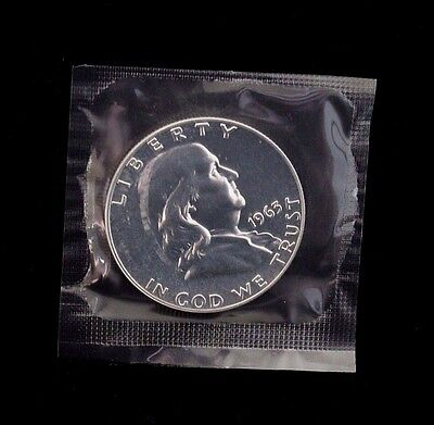 1963 Franklin 50c Half Dollar Silver Proof Coin In Cello