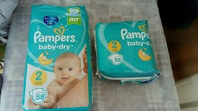 Lot 87 Couches Pampers Baby Dry taille 2