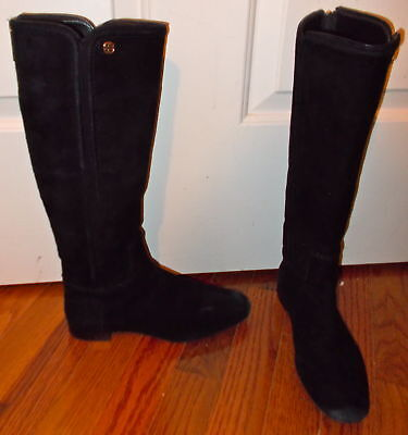 3b89d290ee5c6 Tory Burch Women s Tall Black Boots-Size 5 1 2-Zipper Back-