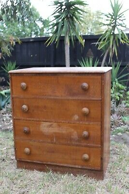 Antique furniture chest of draws solid timber