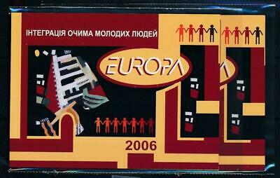 [119180] Europa 2006 2x good complete booklet very fine MNH