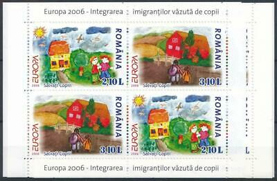 [119184] Europa 2006 6x good sheet very fine MNH