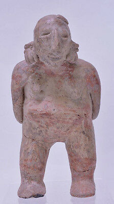 "Large Fine Pre-Columbian Pottery Figure  9 1/2"" x 5"" x 3"""