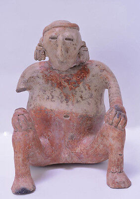 "Large Fine Pre-Columbian Pottery Figure  11"" x 8"" x 7"""