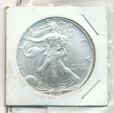 2003 American Silver Eagle 1 oz .999 Silver Exact Coin Shown