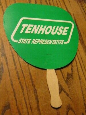 Vintage Politician State Representative Tenhouse Cardboard Hand Fan