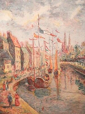 OLD Listed Artist French Paris Impressionist ETCHING Fine Art Artwork SIGNED A/P