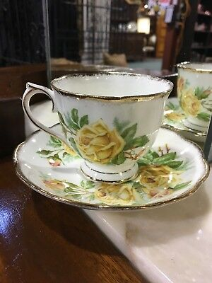 Royal Albert Yellow Tea Rose Cup and Saucer - Excellent