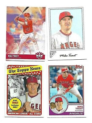 2017 MLB TOPPS NOW CARD #109 AL AND NL PLAYERS OF THE MONTH MIKE TROUT/RYAN Z