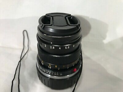 Leica SUMMICRON-M 50mm f/2 MF Lens (Black)   Leitz Wetzlar (German) model