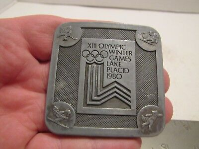 1980 Xiii Olympic Winter Games Lake Placid Ny  Belt Buckle