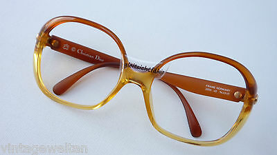 Dior Women's Vintage Glasses Frames Oversized XL Large Form Braun Light SIZE L