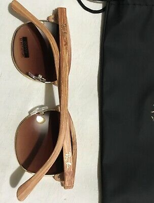 Classic New Women's Rayban Sunglasses With Gold Glare/Reflection.