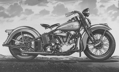 Harley-Davidson 61ci EL Knucklehead 1939 press – photo motorcycle photograph