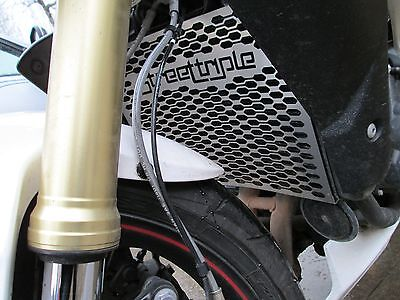 Triumph Street Triple 675 R RX (13-17) Beowulf Stainless Steel Radiator Guard