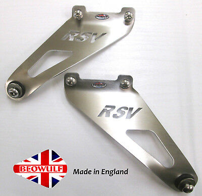 Aprilia RSV MILLE 1000 (2004 >) Stainless Exhaust Hanging Brackets Pair Beowulf