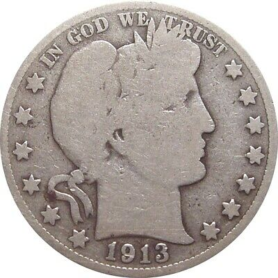 1913 Barber Half Dollar--Good