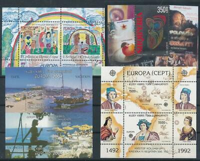 [G103591] Europa 4 good sheets very fine MNH