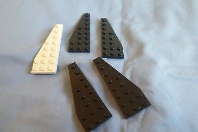 LEGO Pair of Dark Blue 8x3 Wedge Plate Pieces