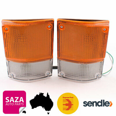 Pair of Front Corner Indicators Park Lights for Toyota Coaster Bus BB20 1981-93