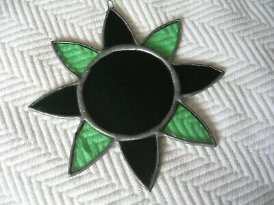 """Vintage Stained Glass 2 colour Green STAR Sun Catcher Hanging Decoration 6x6"""""""
