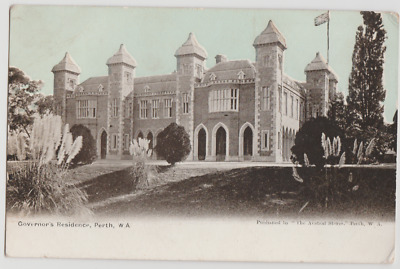 WESTERN AUSTRALIA WA Governors Residence PERTH Austral Stores postcard c1904
