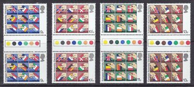 Gb 1979 Sg1091-94 Year Of The Child Traffic Light Gutter Pairs Unfolded Mnh