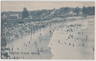 Australia NEW SOUTH WALES NSW Surfing Beach COOGEE Sydney postcard c1906
