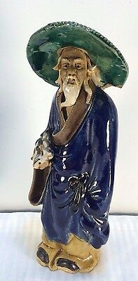 Antique Shekwan Scholar / Sage Mudmen Figure 1890-1919 China Excellent Condition