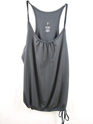 442742e42bd09 Active Old Navy Womens Sleeveless Tank Top Loose Fit Drawstring Gray L Large  C7