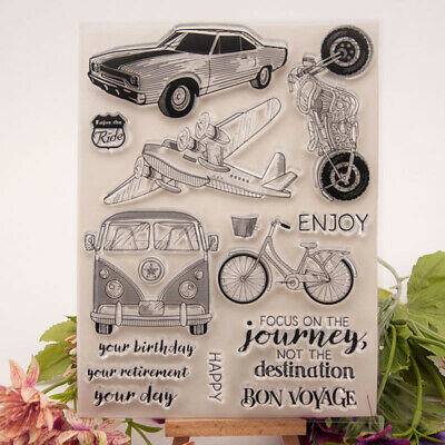 bus car transparent clear silicone stamp for diy scrapbooking photo decorationJA