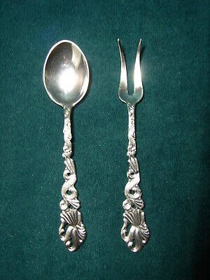 Vintage Made in Sweden EPNS Silverplate Very Ornate 2 Piece Condiment Set