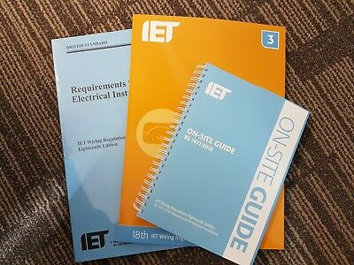 IET 18th Edition BS7671 Wiring Reg's, GUIDANCE NOTE 3, ON-SITE GUIDE & MOCK's