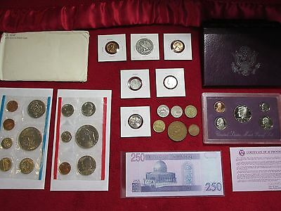 Us Coins Lot Mint +Proof+1943 90% Silver Half+1956 Bu Nickel --No Reserve #b108