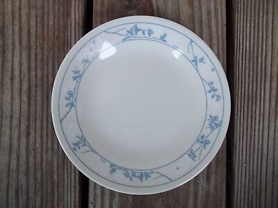 Vintage Corelle First of Spring Bread Butter Sandwich Plate Blue White Floral