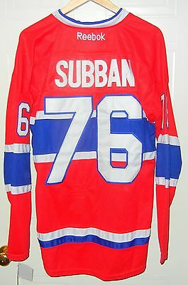 pretty nice d9ef1 41bb9 PK SUBBAN NHL Montreal Canadiens #76 RBK Jersey Size 50