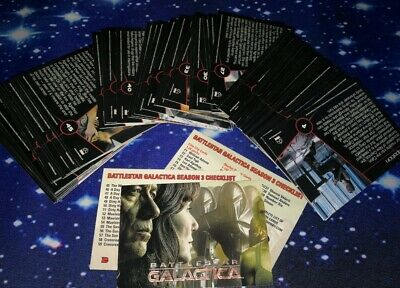 Battlestar Galactica Season Three Trading Cards The Complete Base Set.