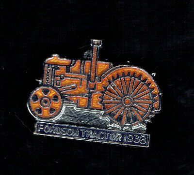 Old  Fordson Tractor 1938  Enamel Pin Badge.