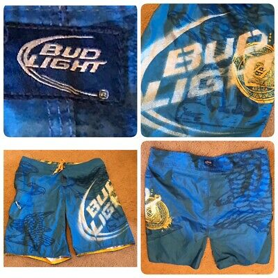 ef0a77ec31 BUDWEISER & BUD LIGHT Men's Swim Trunks / Board Shorts - Choose Size ...