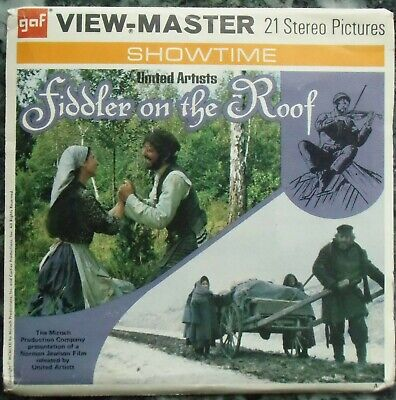 3 View-Master 3D Bildscheiben - Fiddler On The Roof + Booklet