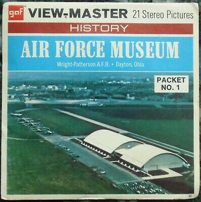 3 View-Master 3D Bildscheiben - Air Force Museum - Packet No. 1