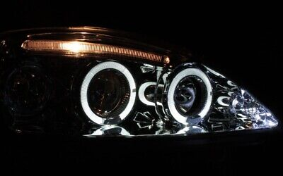 Klarglas Chrom Angel Eyes Scheinwerfer Set Opel Corsa C Led Standlichtringe New