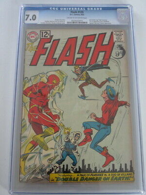 Flash #129 1962 CGC 7.0 CR/OW Pages 2nd GA Flash